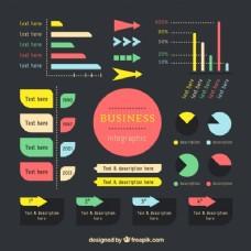 建立现代企业的信息图表元素