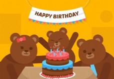 矢量第一生日熊