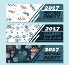 抽象矢量元素背景新年横幅