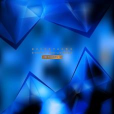 海军蓝色多边形三角背景设计