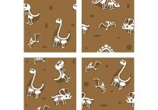 恐龙化石矢量背景