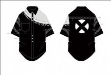 黑色潮牌衬衫