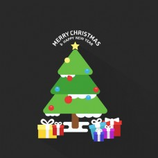 圣诞树礼品盒背景