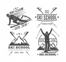 冬季运动老式徽章