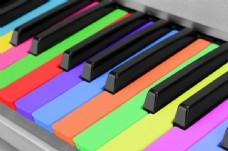 彩色钢琴按键