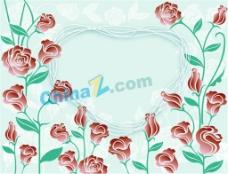 精美玫瑰花边框矢量