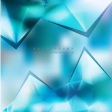 绿松石蓝三角背景模板
