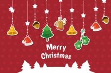 圣诞背景与装饰贴挂