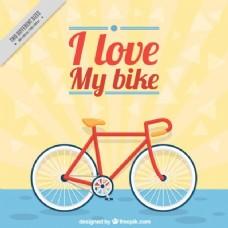 平面设计中的自行车背景