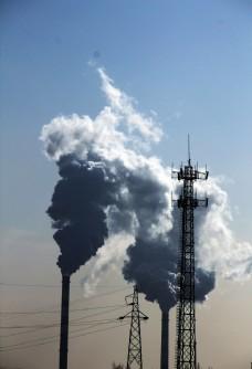 污染的天空图片