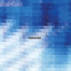蓝色抽象三角背景免费
