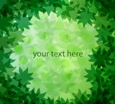 綠色樹葉背景矢量圖