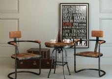 loft复古茶桌椅