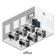 排列整齐的办公室图片