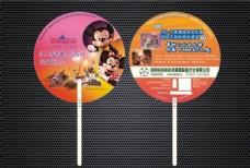 国际旅游公司宣传筷子柄扇设计