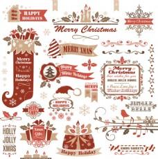 紅色圣誕素材圖片
