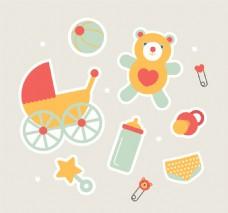可爱的婴儿卡通元素