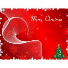 圣诞贺卡上的红色背景矢量背景图案