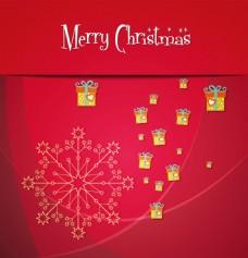 红色缤纷圣诞背景