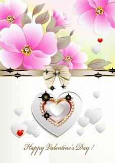 创意牡丹花朵背景婚礼卡片图片