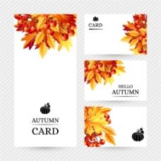 秋天枫叶海报图片