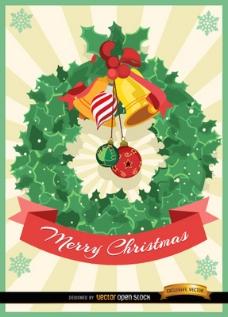 圣诞节槲寄生装饰卡