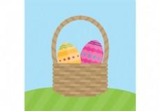 篮子里的复活节蛋