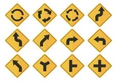 道路符号箭头向量