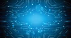 蓝色科技背景图