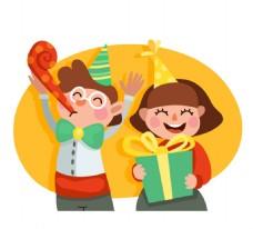 庆祝生日的儿童