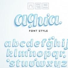 水珠字母设计矢量素材