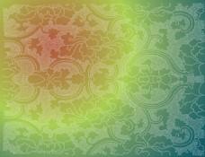 绿色植物花纹矢量素材