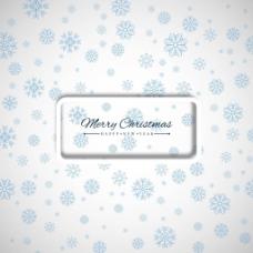 美丽的圣诞背景与雪花