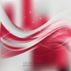红色白波背景设计