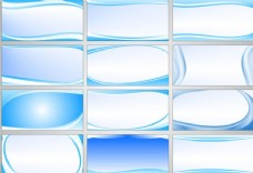 蓝色宣传栏背景矢量素材