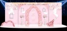 粉红浅色婚礼迎宾效果图
