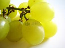 一串绿色的葡萄