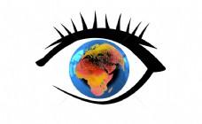 眼中的地球