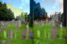 草地上的墓碑
