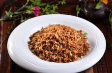 松茸菌豉油炒饭图片