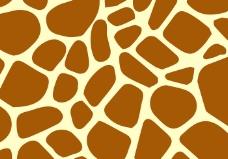 长颈鹿花纹矢量