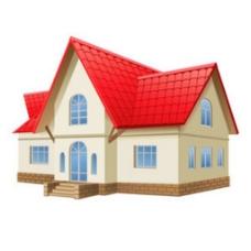 小房子在白色背景矢量插图