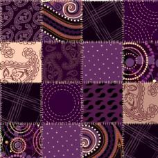 紫色魔幻花纹