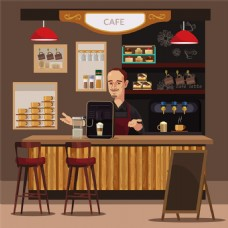 餐厅里的男人图片