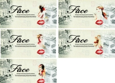 face 美容 海报