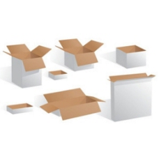 白色空盒包装图标模板矢量