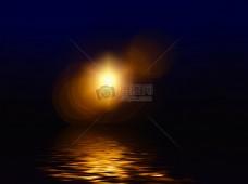 水面上的光晕