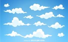 插图卡通云背景