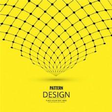 线条和点的黄色背景