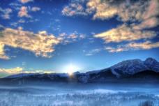 冬季早晨背景